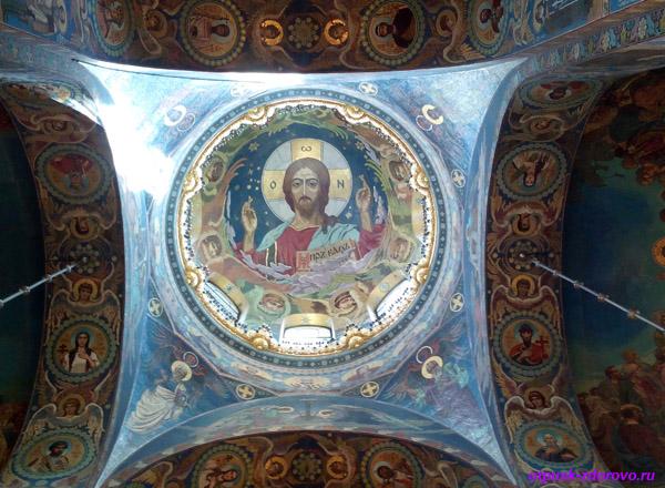 Собор Спаса-на-Крови в Санкт-Петербурге, мозаичная икона под куполом