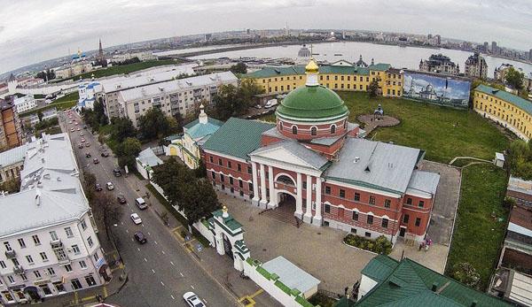 Казанский Богородицкий монастырь в Казани, вид сверху