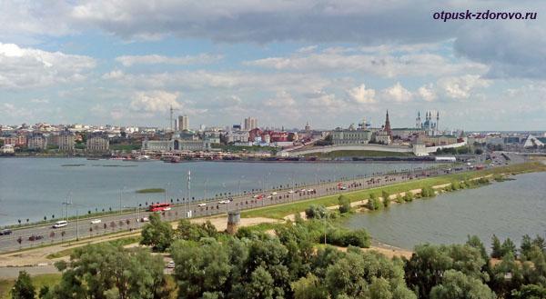 Панорама Казанского Кремля и города сверху