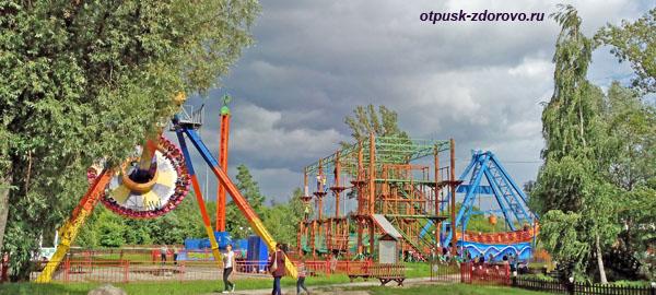 Детские аттракционы, Парк Кырлай, Казань