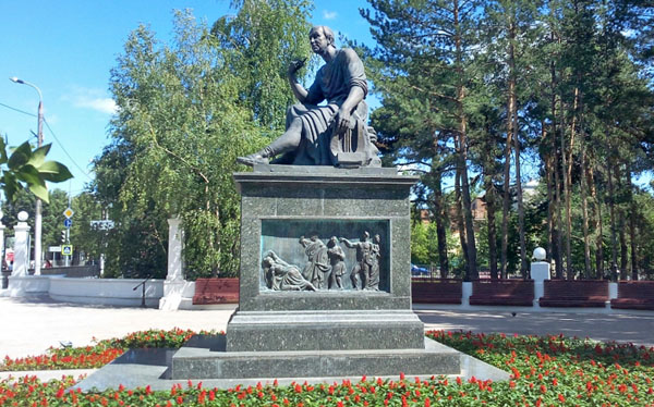 Памятник Г.Державину, Лядской сад, Казань