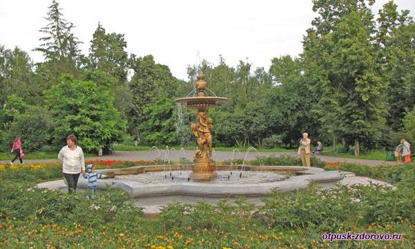 Фонтан в Ленинском саду Казани