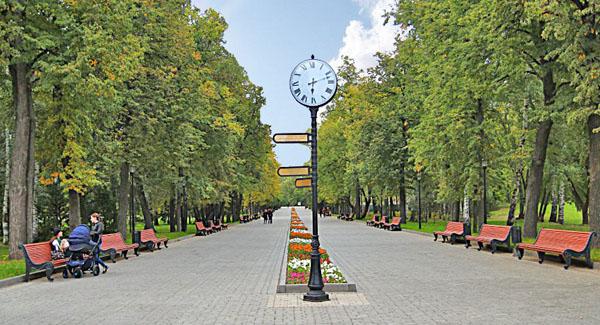 На территории Парка имени Горького в Казани