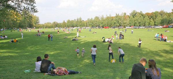 Отдых на лужайке, Парк имени Горького, Казань