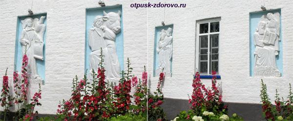 Барельефы Евангелистов в Раифском монастыре, Казань