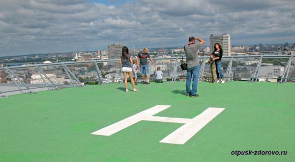 На смотровой (вертолетной) площадке Гранд Отеля, Казань