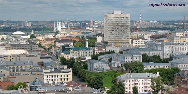 Вид на Казань сверху