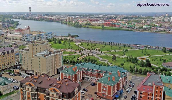 Парк 1000-летия Казани, вид сверху