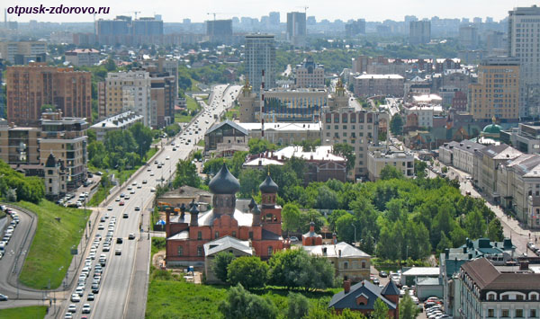 Старообрядческая церковь, Казань, вид со смотровой площадки