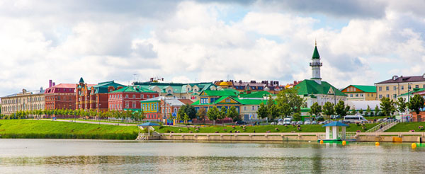 Старо-Татарская слобода в Казани и озеро Нижний Кабан
