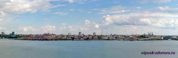 Панорама города со смотровой площадки Казанского ЗАГС-а