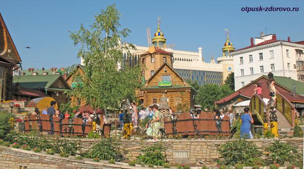 Деревянные строения в Туган Авылым, Казань