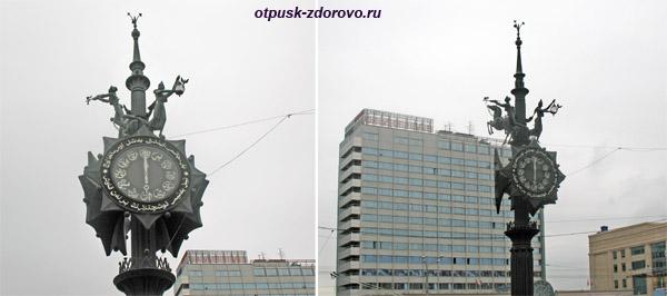 Бронзовые часы у начала улицы Баумана, Казань