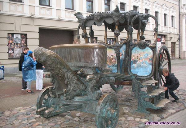 Копия Кареты Екатерины II на улице Баумана в Казани