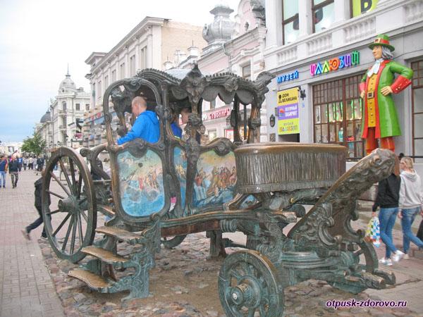 Фото в карете Екатерины Втрой в Казани