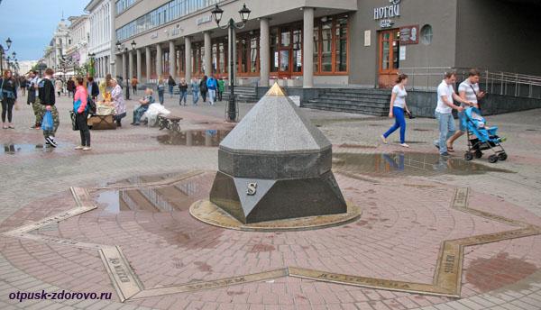 Памятник Нулевой километр на улице Баумана, Казань