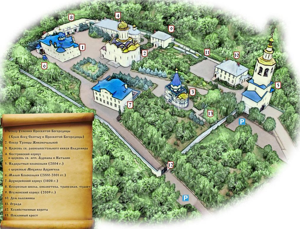 План территории Зилантова монастыря, Казань