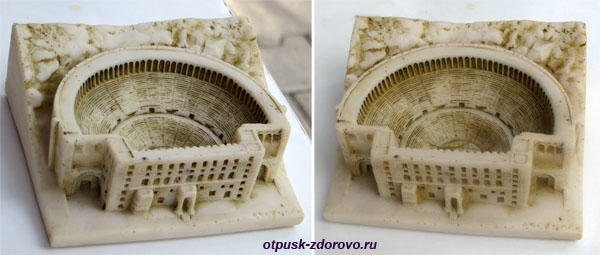 Амфитеатр в Турции или древний Колизей в Демре, сувенир