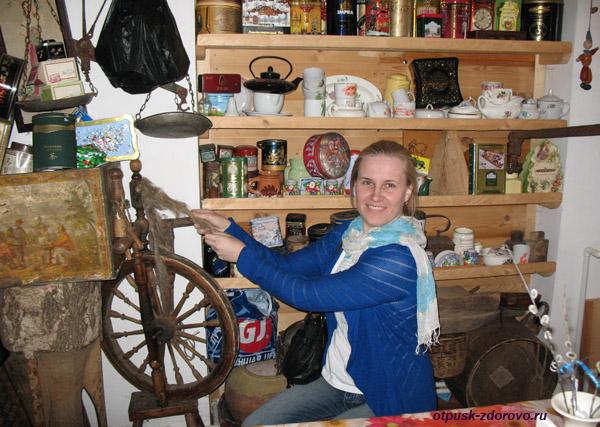Колокольня в Завидово, ткацкий станок