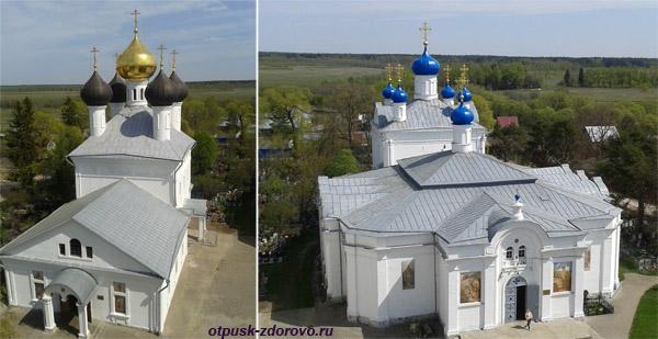 Храмы в в Завидово, вид с колокольни