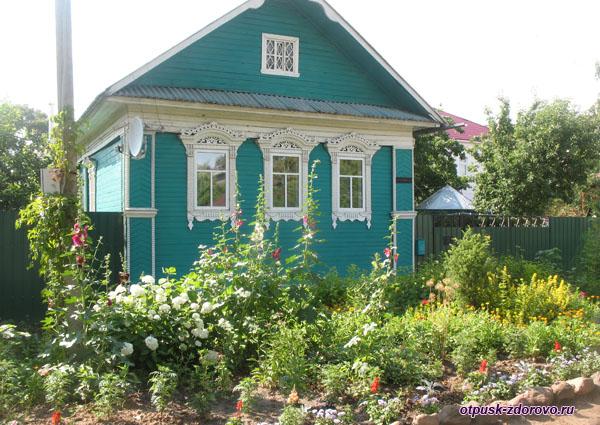 Симпатичный деревянный дом, достопримечательности, Калязин, Тверская область