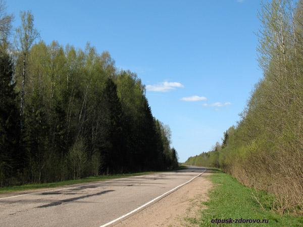 Дорога к истоку Волги, в Волговерховье