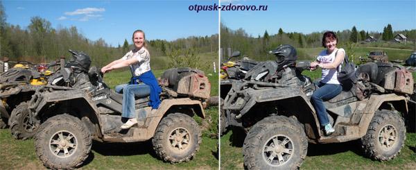 Квадроциклы на Ольгином Хуторе в Вороново, Тверская область, между Селигером и истоком Волги