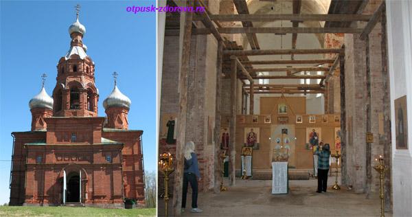 Ольгин монастырь в Волговерховье Тверской области, храм Преображения Господня