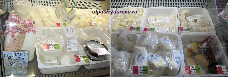 Витрина магазина сыров