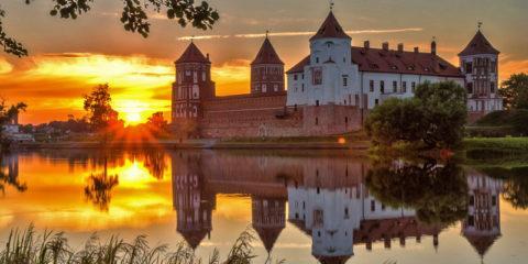 Замки Белоруссии на карте Беларуси