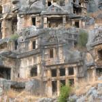 Ликийские гробницы в городе Миры, Турция