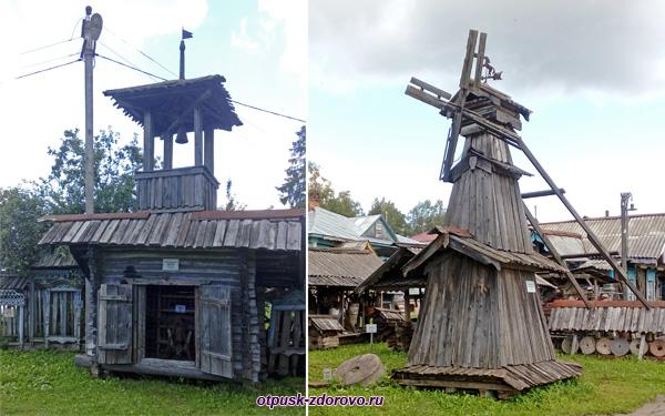 Пожарная каланча и Мельница, Музей деревянного зодчества, Мышкин