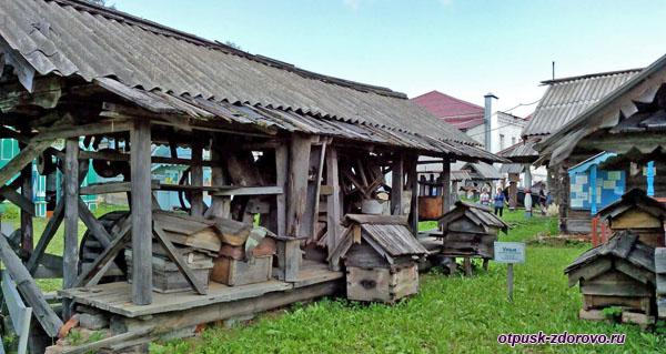 Пчелиные ульи, Музей деревянного зодчества, Мышкин
