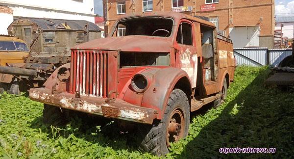 Пожарная машина, Музей ретро-техники Мышкинский Самоходъ, Мышкин