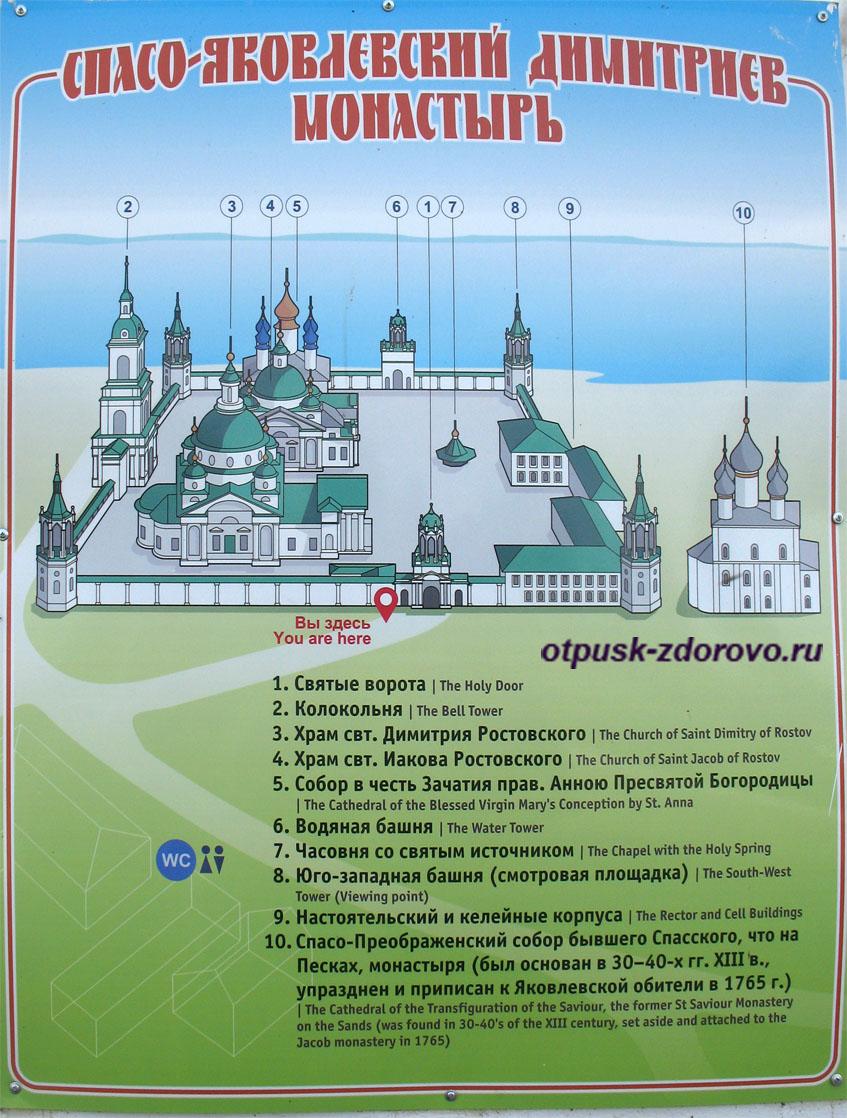 План Спасо-Яковлевского монастыря, Ростов Великий