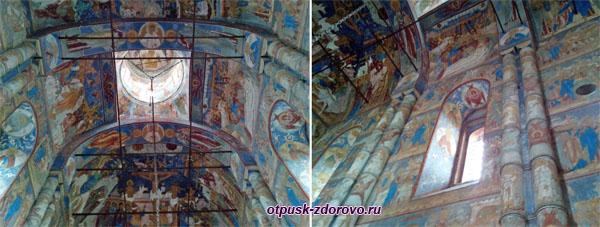 Внутри церкви Воскресения Ростовского Кремля