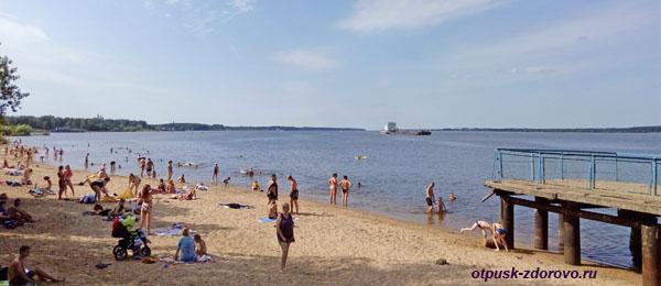 Пляж в Рыбинске, возле деревни Переборы