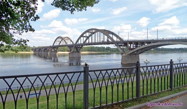Мост через Волгу в районе Рыбинска