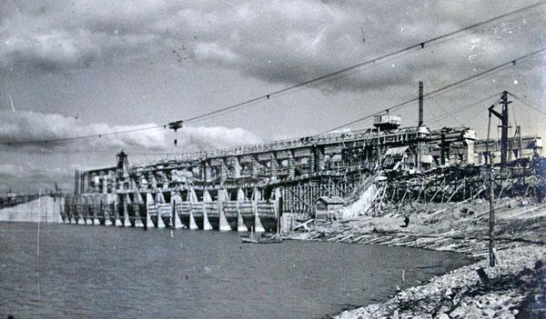 Строительство Рыбинского гидроузла, 1940 год