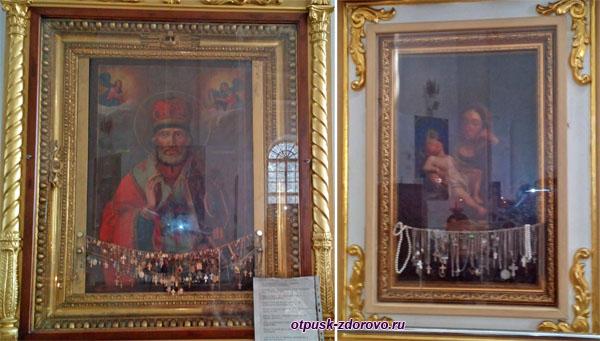 Чудотворные иконы в Спасо-Преображенском соборе Рыбинска