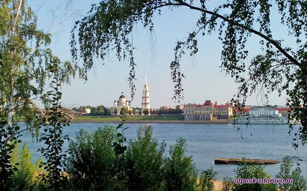 Спасо-Преображенский собор, вид с Волги, Рыбинск