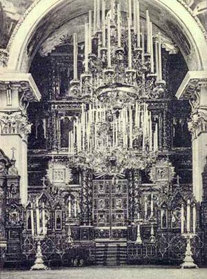 Внутреннее убранство Спасо-Преображенского собора в начале 20 века, Рыбинск