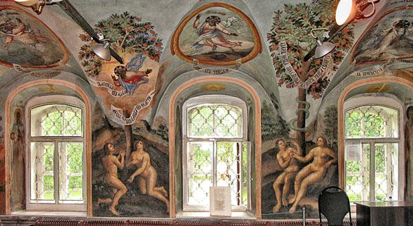 Угличский Кремль и церковь Димитрия-на-Крови, старинные фрески, Углич