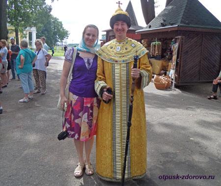 Угличский Кремль, фото с царем