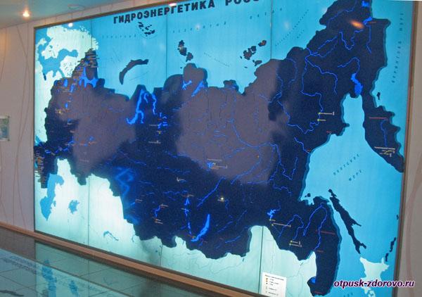 Карта гидроэлектростанций России, Музей гидроэнергетики, Углич