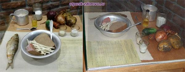 Продовольственный паек на сутки заключенных Волголага, Углич