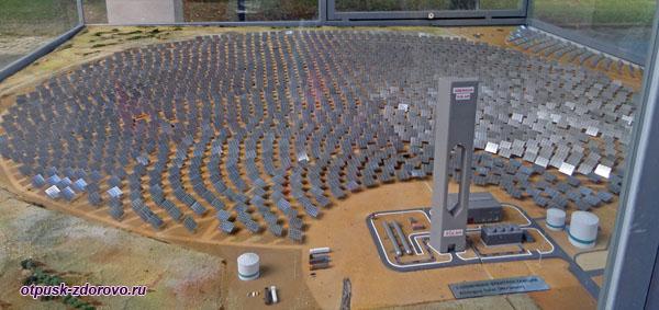 Макет солнечной электростанции, Музей гидроэнергетики, Углич