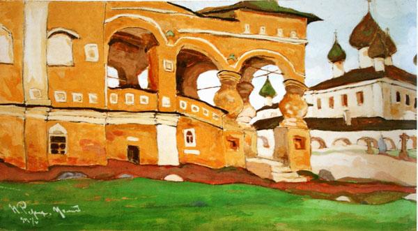Картина Николая Рериха: Углич, Воскресенский монастырь