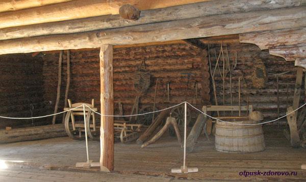 Старинный деревянный гараж, Музей деревянного зодчества, Кострома