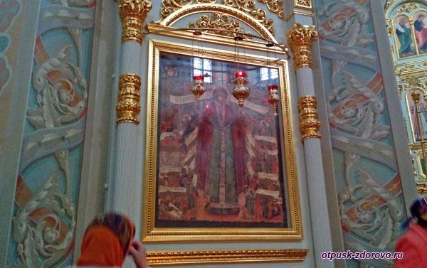 Храмовая икона Богородицы Всех Скорбящих Радости, Свияжск